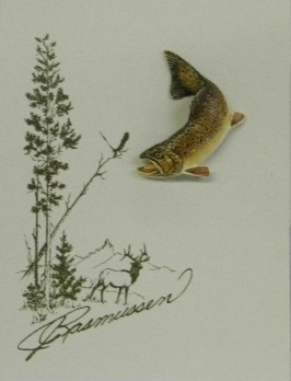 Brown Trout Tie Tack