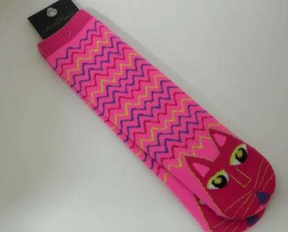 Laurel Burch Tall Pink Cat Socks