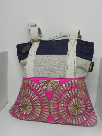 Catori Pink and Tan Purse